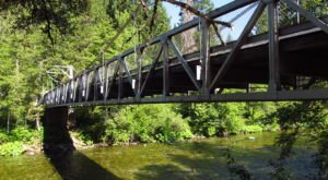 Walk Across A 160-Foot Suspension Bridge At Sims Flat Campground In Northern California