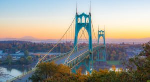 Walk Across The St Johns Bridge For A Gorgeous View Of Oregon's Fall Colors
