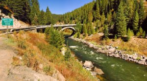 Drive Across Rainbow Bridge For A Gorgeous View Of Idaho's Fall Colors