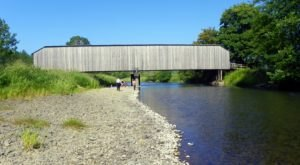The Oldest Covered Bridge In Washington, Grays River Covered Bridge, Is 155 Feet Long