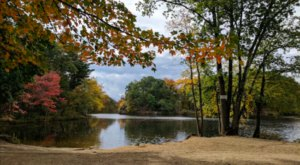 Visit Puffers Pond In Massachusetts, A Beautiful Beach With Its Very Own Waterfall