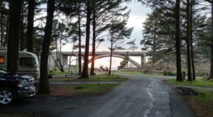 Camp In The Forest, Then Walk Under A Bridge To The Beach When You Stay At Oregon's Beverly Beach