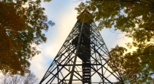 Climb The Observation Tower At Minnesota's Mille Lacs Kathio State Park For An Aerial View Of Fall Color