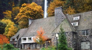 You'll Be Surrounded By Vibrant Fall Foliage When You Dine At Multnomah Falls Lodge In Oregon