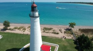 Climb 94 Steps To The Top Of Fort Gratiot Lighthouse Near Detroit And You Can See All The Way To Canada