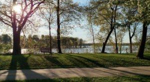 Hike A Short But Scenic Mile At Iowa's Pigeon Creek Park That Offers Beyond Beautiful Views
