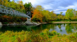 Walk Across The Winooski River Long Trail Footbridge For A Gorgeous View Of Vermont's Fall Colors