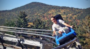 Take A Ride Through New Hampshire's Fall Foliage On The Attitash Mountain Coaster