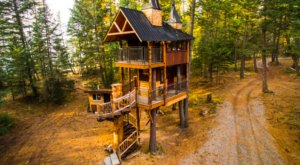 Experience The Fall Colors Like Never Before With A Stay At Montana Treehouse Retreat
