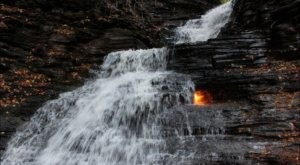 Eternal Flame Falls Near Buffalo Is Unbelievably Beautiful And You'll Want To Find It