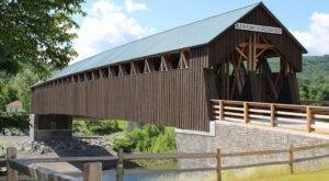 The Longest Covered Bridge In New York, Blenheim Covered Bridge, Is 210 Feet Long