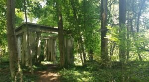Muttontown Preserve Nature Trail In New York Leads Straight To An Abandoned Mansion