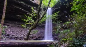 Heavy Rains Bring Out The Elusive Rough Hollow Falls In Arkansas