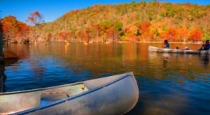 Paddle Down The Lower Mountain Fork River During Oklahoma's Fall Foliage Season For A Natural Experience Like No Other