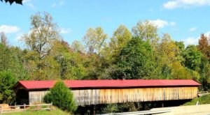 The Longest Covered Bridge In North Carolina, At Ole Gilliam Mill Park, Is 140 Feet Long