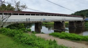 The Longest Covered Bridge In West Virginia, Philippi Covered Bridge, Is 285 Feet Long