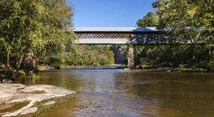 The Longest Covered Bridge In Alabama, Swann Covered Bridge, Is 324 Feet Long