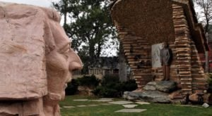 The Joseph Smith Sphinx Is Just One Of Many Oddities You'll Find At Utah's Bizarre Gilgal Garden