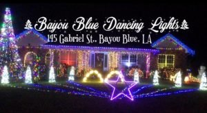 Bayou Blue Dancing Lights Just Might Be The Most Enchanting Holiday Light Show In Louisiana