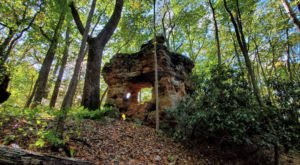 Hike To A Fascinating Rock House Called Devil's Market House Arch In Kentucky