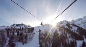 Take A Winter Zip Line Tour To Marvel Over Utah's Majestic Snow Covered Landscape From Above