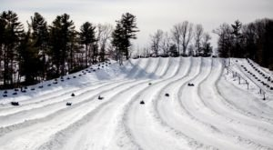 The Longest Snow Tubing Run In Massachusetts Can Be Found At Nashoba Valley's Snow Tubing Park