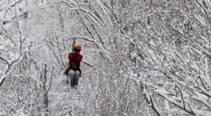 Take A Winter Zip Line Tour To Marvel Over West Virginia's Majestic Snow Covered Landscape From Above