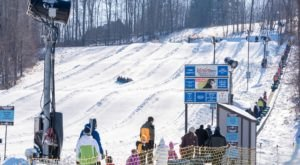 The Longest Snow Tubing Run In Ohio Can Be Found At Snow Trails