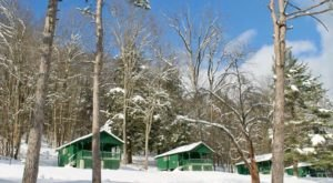 You'll Find A Luxury Glampground At Allegany State Park Near Buffalo, It's Ideal For Winter Snuggles And Relaxation