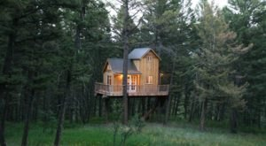 Papa's Treehouse Just Might Be The Coziest Place To Hibernate Through A Montana Winter