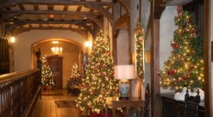 Stroll Through More Than 60 Decorated Christmas Trees In New York At The Historic Coe Hall Mansion
