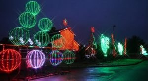 Magic Becomes A Reality At One Of The Best Digital Christmas Light Shows In Kansas At Deanna Rose Farmstead