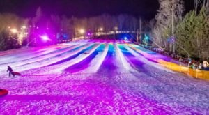 Try The Ultimate Nighttime Adventure With Lunar Lights Tubing At Peek'n Peak Resort Near Buffalo
