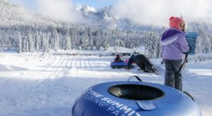 The Longest Snow Tubing Run In Washington Can Be Found At Summit Tubing Park