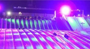 Try The Ultimate Nighttime Adventure With Galactic Snow Tubing At Stone Mountain In Georgia