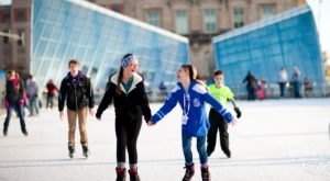 You'll Feel Like A Kid Again When You Go Ice Skating At Iowa's Brenton Skating Plaza