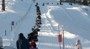 The Longest Snow Tubing Run In Idaho Can Be Found At Snowhaven Ski & Tubing Area