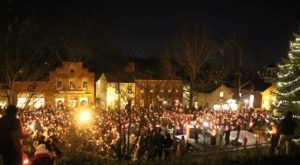 Experience Holiday Magic From The 1800s At Christmas Candlelighting In Ohio's Historic Roscoe Village