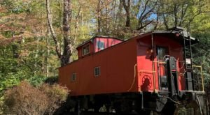 Spend The Night In An Authentic 1950s Railroad Caboose In The Middle Of Ohio's Hocking Hills