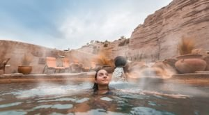 Watching Snow Fall From This One Hot Spring Resort In New Mexico Is Basically Heaven