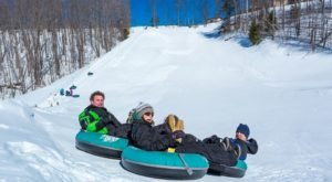 You Can Go Tubing Down A 400-Foot Hill At Treetops Resort, Michigan's Winter Wonderland