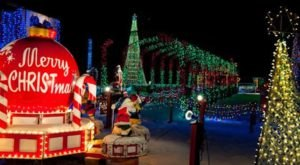 Enjoy Thousands Of Twinkling Lights On The Holiday Wagon Ride At The Christmas Ranch Near Cincinnati