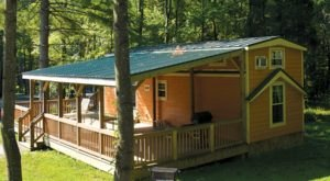Experience An Enchanting Christmas Cabin Getaway At Lake Rudolph & RV Resort In Indiana