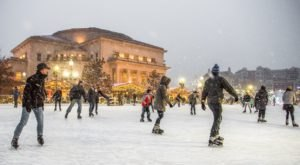 Show Off Your Best Moves On The Ice At The Center Green, A Downtown Ice Skating Rink In Indiana