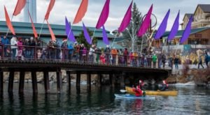 Get In The Holiday Spirit With This Oregon Holiday Lights Paddle Parade