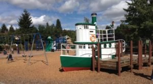 Get Some Fresh Air And Play On A Tugboat This Fall At Harmon Park's Playground In Oregon