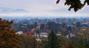 The Fall Foliage Views At Oregon's Skinner Butte Park Simply Can't Be Beat