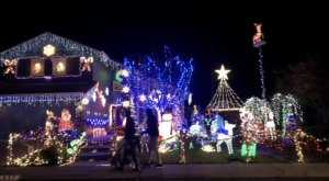 Drive Or Walk Through Millions Of Holiday Lights At Candy Cane Lane In Northern California