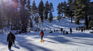 This Public Sledding Hill In Nevada Doesn't Cost A Dime And Boasts Hours Of Snow Play For Your Family