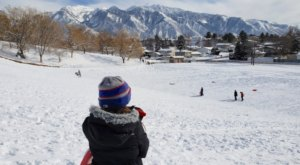 Take The Family For A Free Day Of Sledding  In Utah at Flat Iron Mesa Park